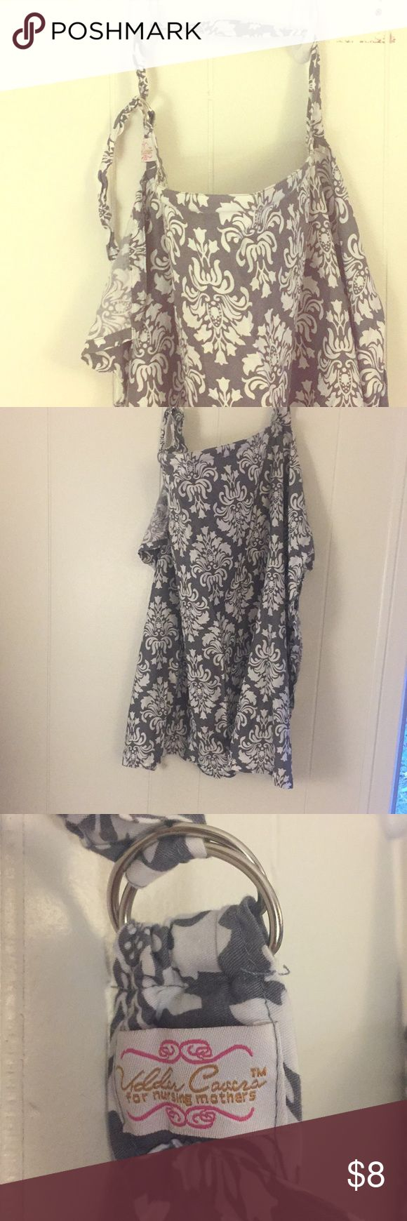 Udder Covers Nursing Cover Udder Covers Nursing Cover Beautiful white & grey print Used a few times, clean, no Stains  Adjustable neck Udder Covers Accessories Scarves & Wraps