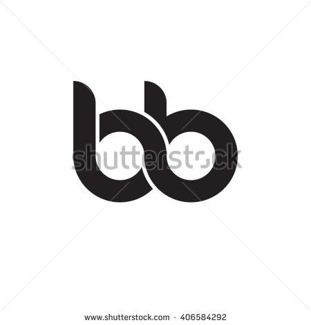 initial letter bb linked circle lowercase monogram logo black