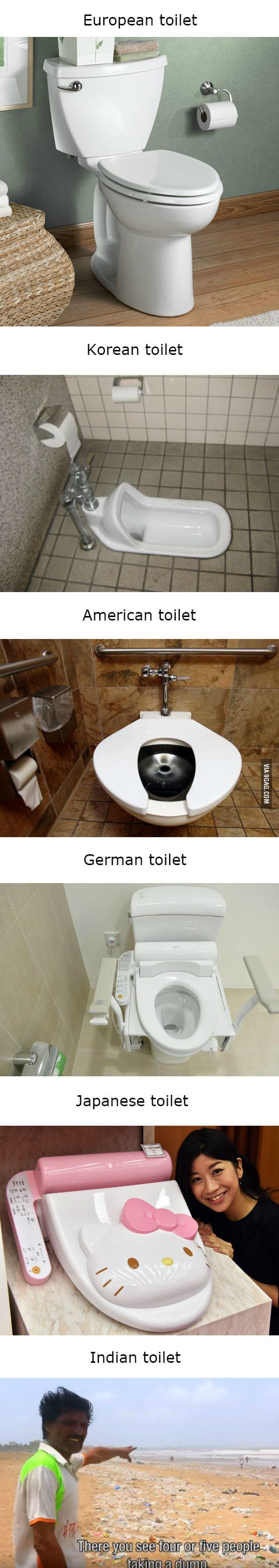 Toilets around the world