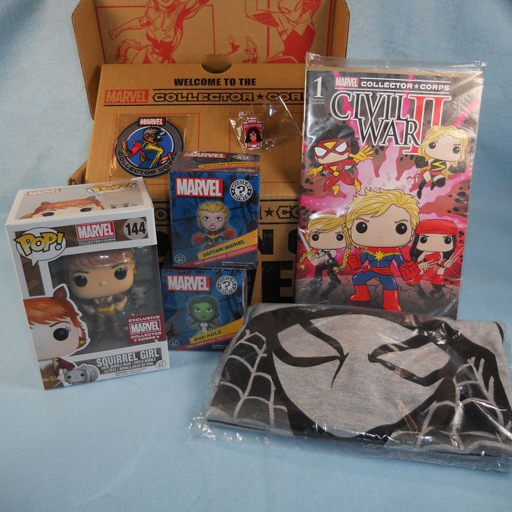 Marvel Collector Corp Women of Power Box Squirrel Girl Funko Pop MD Shirt #FUNKO #CollectorCorp #SquirrelGirl