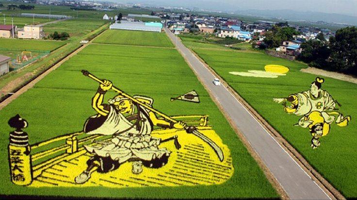 Obrazy ryżem malowane