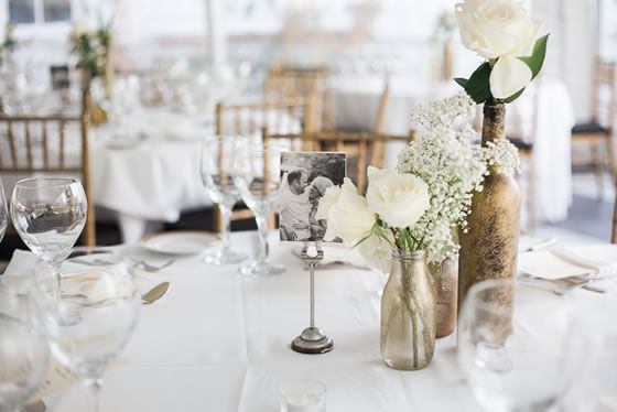 Simple wedding centerpieces. Hannah Nicole Photography New York Wedding Photographer.