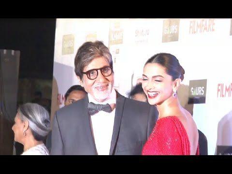 Deepika Padukone & Amitabh Bachchan at Filmfare Awards 2016.
