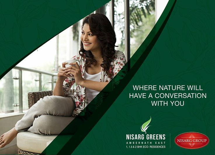 """""""Where nature will have a conversation with you."""" Nisarg Greens - Ambernath East 1, 1.5 & 2 BHK Eco-Residences #MahaRera Registration Number for Phase II - P51700008839 To know more log on to: http://www.nisarggroup.com/greens/ Or you can call on: 08655 787878   SMS 'GREENS' to 56161 #NisargGreens #Ambernath #RealEstate #EcoLuxury #Property #Homes"""