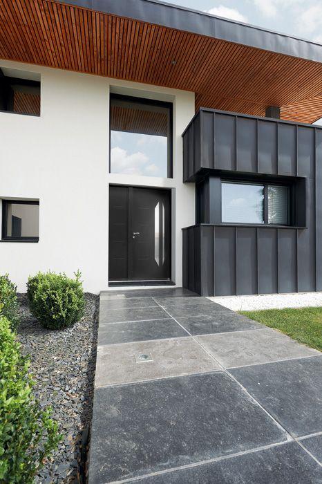 porte d 39 entr e aluminium contemporaine moyen et grand. Black Bedroom Furniture Sets. Home Design Ideas