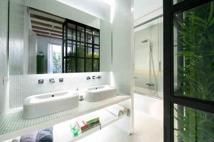 Mosaïque pâte de verre rond pastille blanc brillant plaque - Achat de mosaïque salle de bain rond