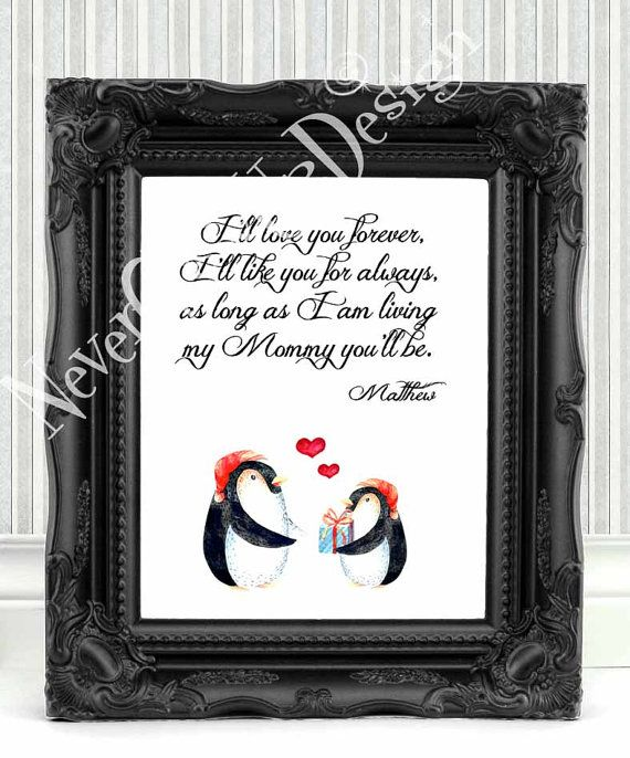 Son Mother Gift Daughter Personalized Christmas Mom Birthday Quote Art Print 116
