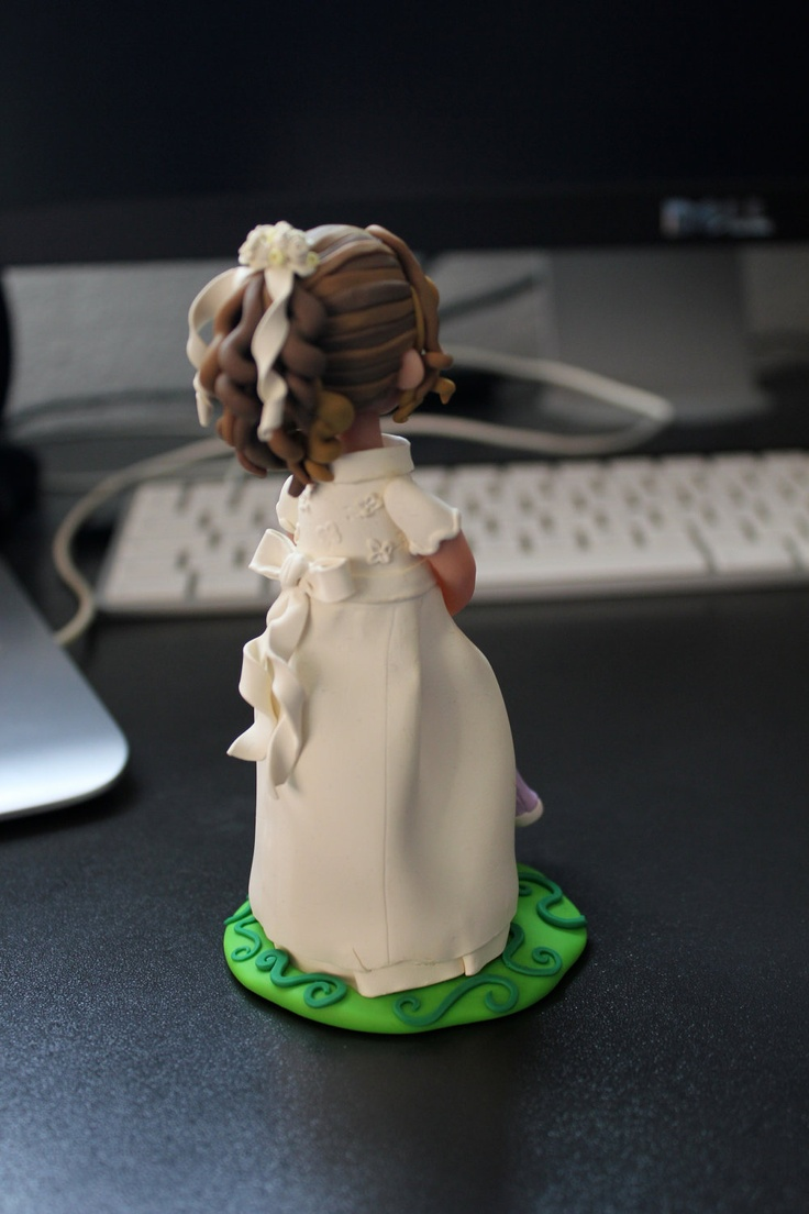 First communion Cake topper, made to order in polymer clay. One figurine .. $60.00, via Etsy.