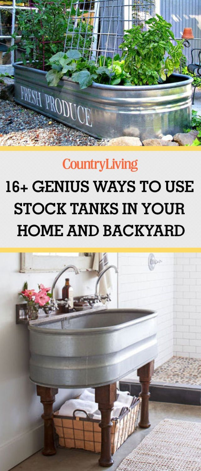 16+ Genius Ways to Use Stock Tanks In Your Home and Backyard