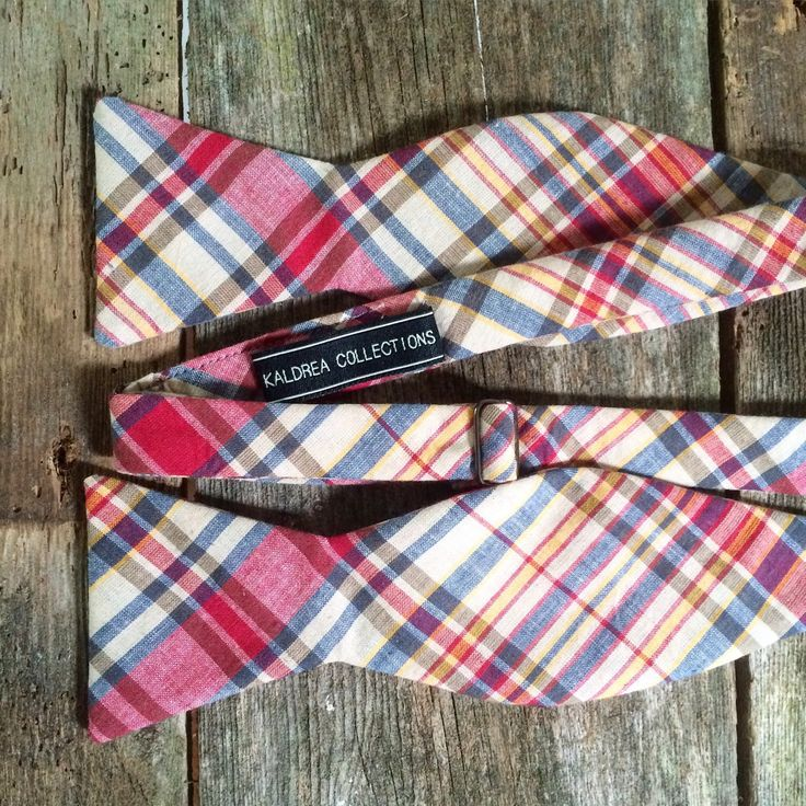 New plaid bow ties available!!