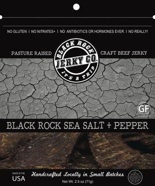 Black Rock Sea Salt Pepper Jerky