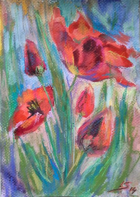 Original Pastel Painting: Sping's paradise flower