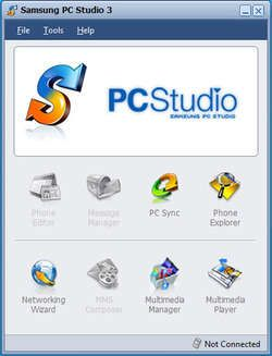 "Samsung ""Old computer Studio"", or simply Samsung PC Studio, may be a Windows-based computer program that enables you to simply manage personal information and transmission files by connecting a Samsung transportable (GSM only) to your pc."