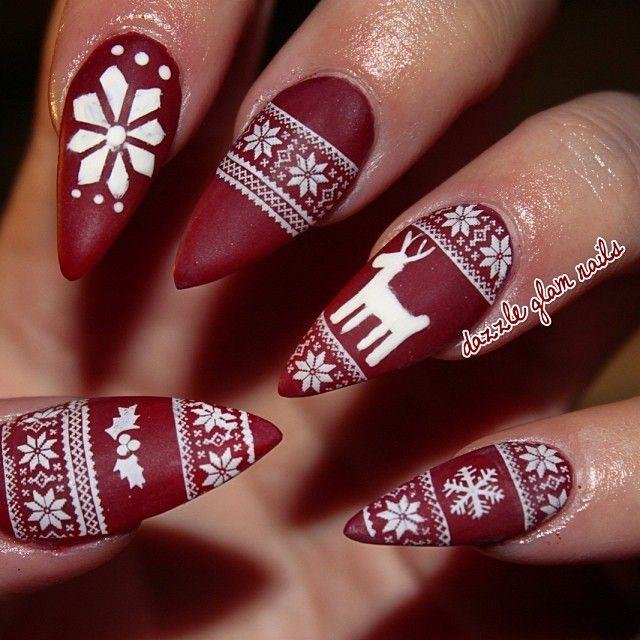stiletto sweater nails beauty pinterest pullover fingern gel und weihnachten pullover. Black Bedroom Furniture Sets. Home Design Ideas