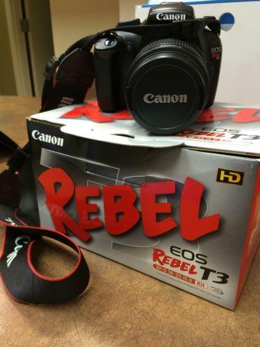 Canon EOS Rebel T3i / EOS 600D 18.0 MP Digital SLR Camera - Black (Kit w/...