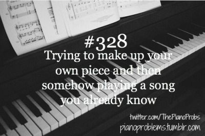 This happens all the time! ugh haha #PianoProblems