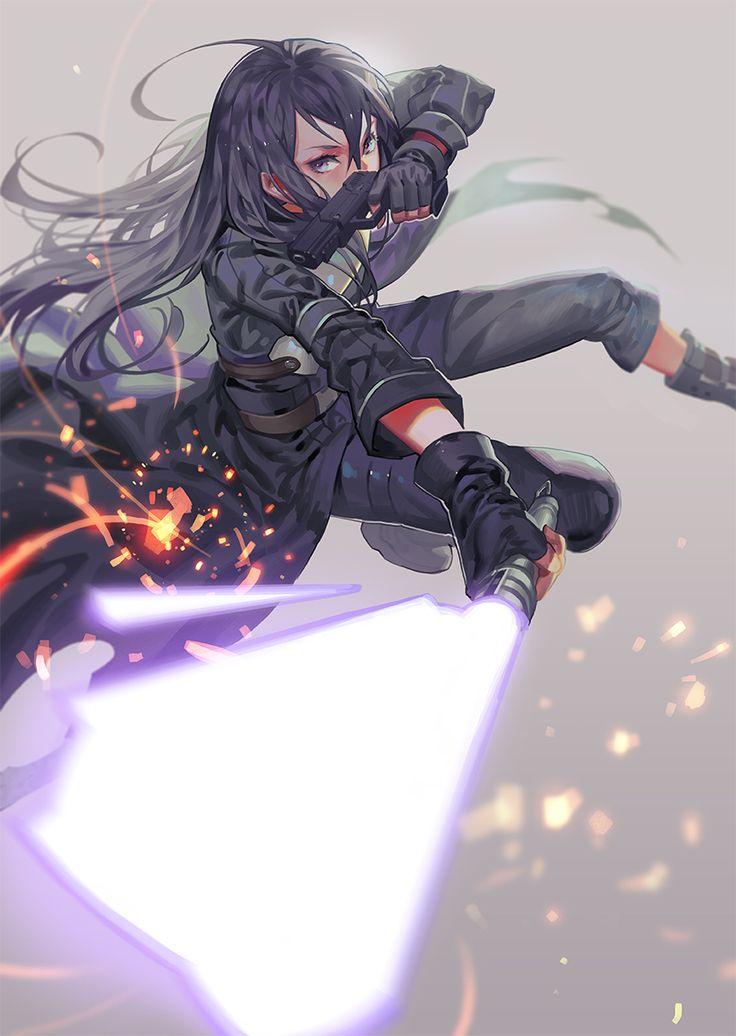 Kirito [GGO]. Sword Art Online II. By ra-lilium (RA)
