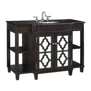 Website Photo Gallery Examples Guest bath Home Decorators Collection Reflections in W x in H Vanity in Espresso with Granite Vanity Top in Black at The Home Depot
