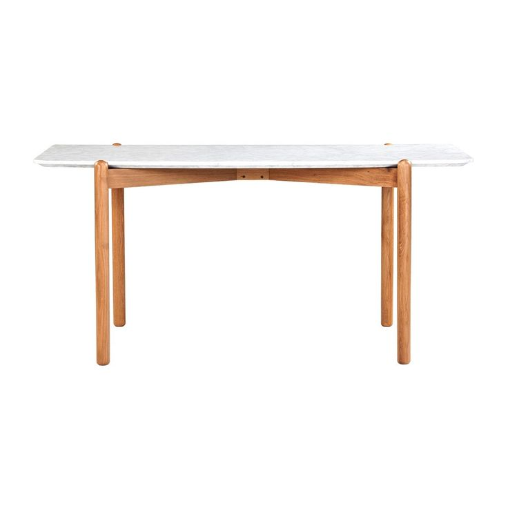 Norah Marble Dining Table (Oak) - Dining Tables - Dining Room - FURNITURE