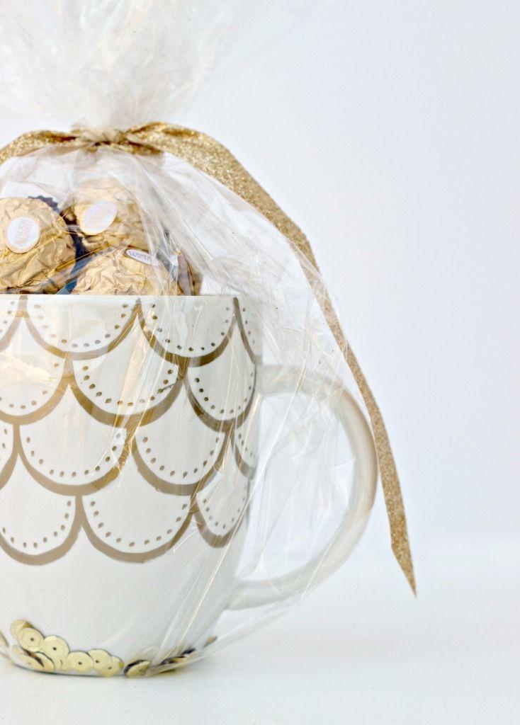 Gold Sharpie Doodle Mug Gift Idea