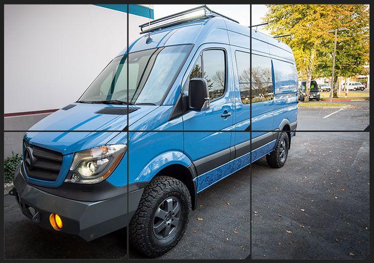 outside van mercedes sprinter custom conversion camper. Black Bedroom Furniture Sets. Home Design Ideas