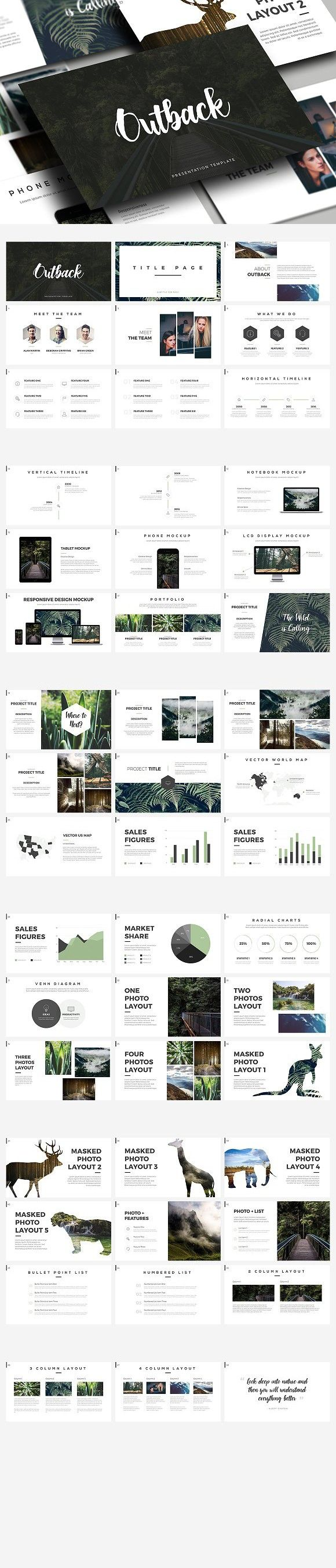 Outback - Presentation Template. PowerPoint Templates. $16.00