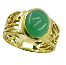 alluring Green Onyx Gold Plated Green Ring Designer US 6789