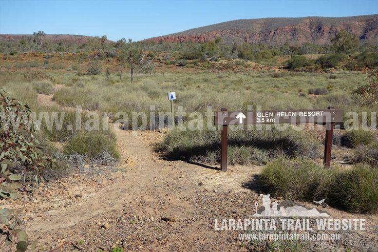Track junction to Glen Helen Station. Image looking south. © Explorers Australia Pty Ltd 2014