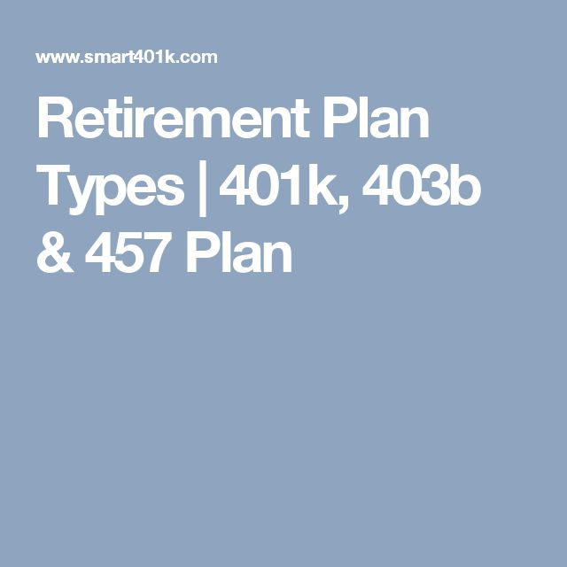 Retirement Plan Types | 401k, 403b & 457 Plan
