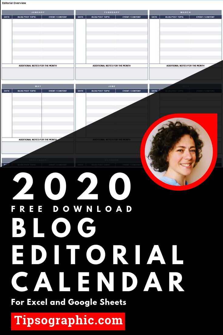 Blog Editorial Calendar Template for Excel, Free Download ...