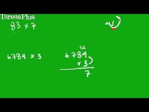 multiplicación de un número de una cifra con otro de varias cifras
