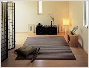 和の風情のカーペット