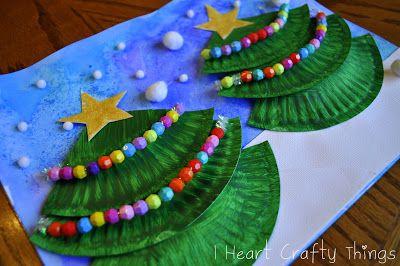 I HEART CRAFTY THINGS: Christmas Tree Art