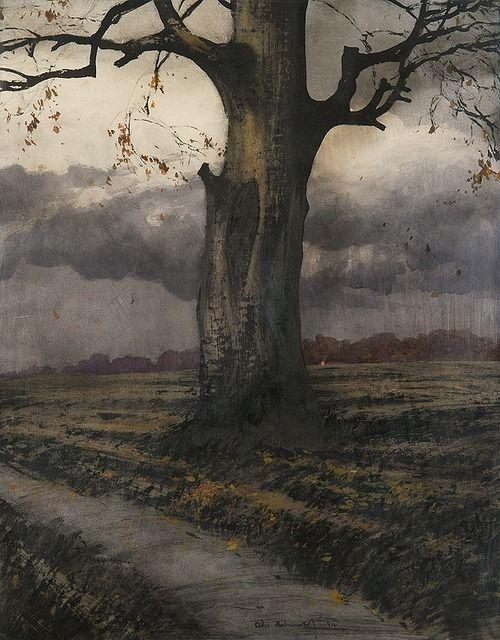 (1) Tumblr: Art Figs, Art Ideas, Odo Dobrowolski Polish, 1883 1917 Lonely Trees, Art Painting, Art Ilustration, 1910 Ink, Art 14, 53 5 Cm