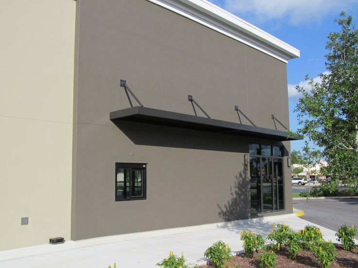 Image result for modern canopy on metal building