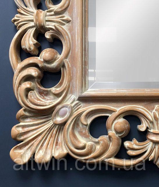 Настенные зеркала в деревянной квадратной раме. Резной багет от Альтвин групп. Классика Артдеко Барокко artdeco barocco mirror / Цены на сайте www.altwin.com.ua
