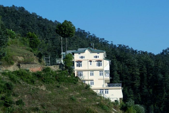Homestay nestled between the hills in Shimla.