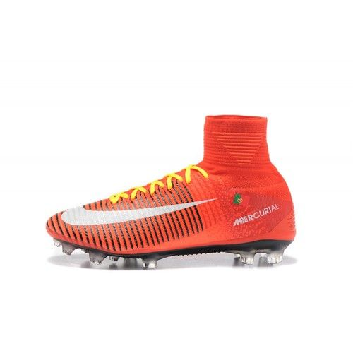 Beste Nike Mercurial Superfly V FG Fotballsko Rod Hvit