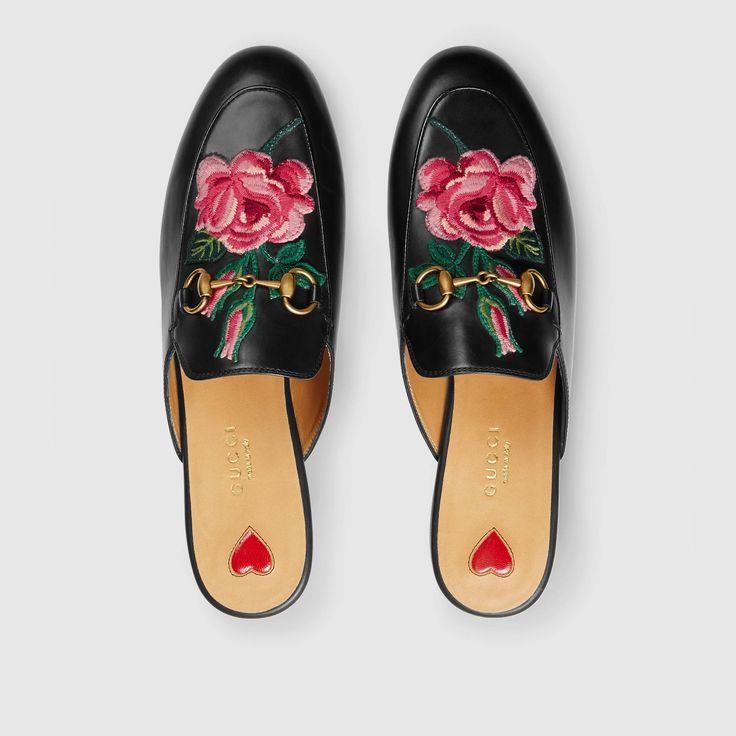Gucci Femme - Mules Princetown en cuir - 449267BLM001000