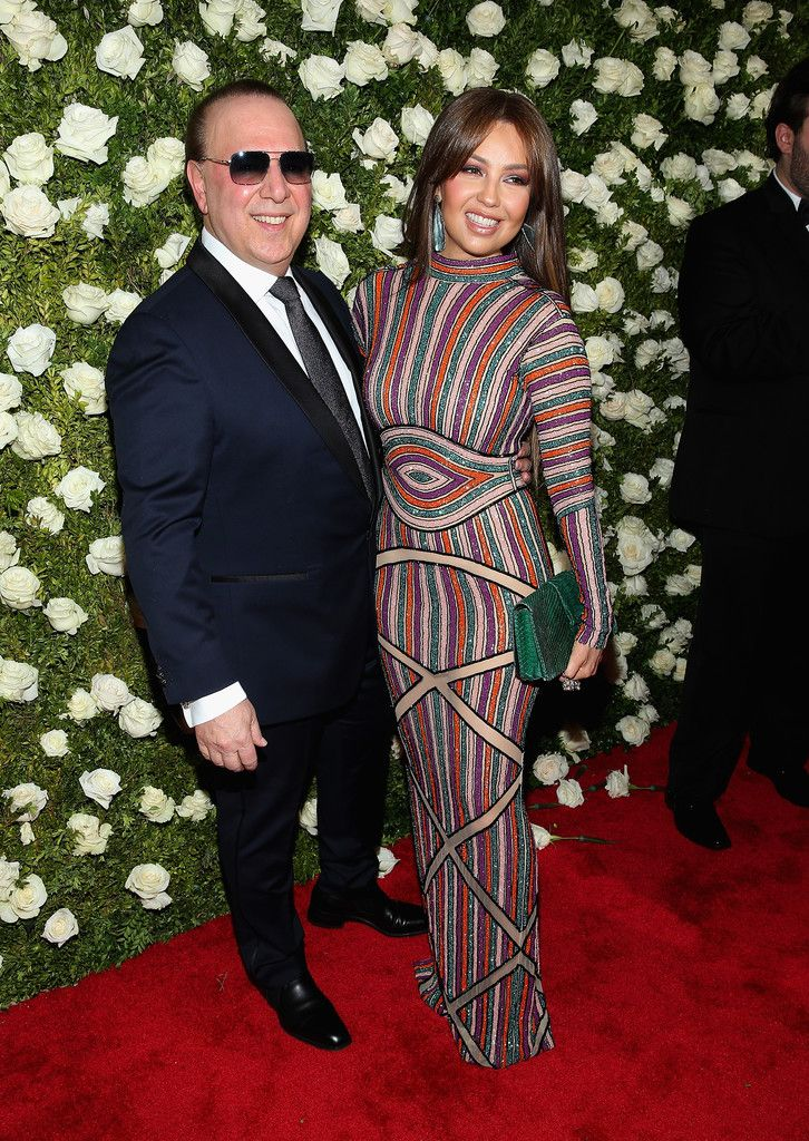 Tommy Mottola and Thalia - The Cutest Couples at the 2017 Tony Awards - Livingly