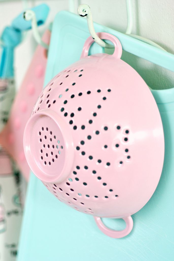 Heart Colander~❥  You should have this !!!  It is not only pink, but has hearts too.  So you