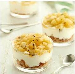 Ontbijten is een must.Wij hebben een heerlijk recept: een ontbijttrifle met haverkoekjes en kiwi.