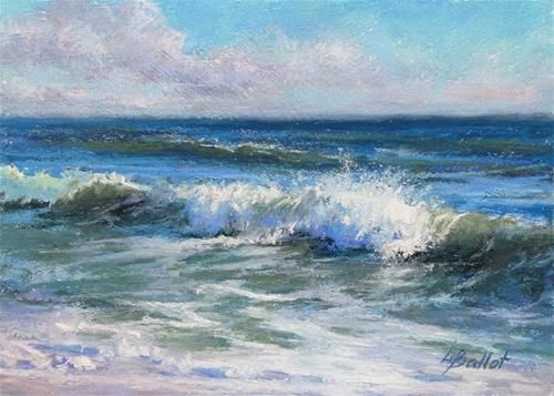 "Daily Paintworks - ""Ocean Wave"" - Original Fine Art for Sale - © Lana Ballot"