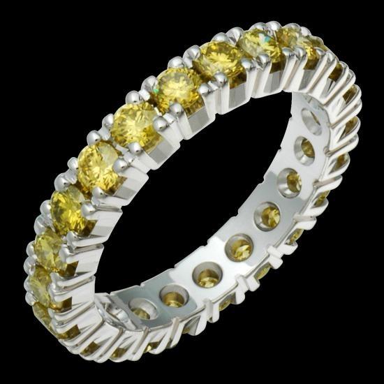 ring met geel/bruine diamanten