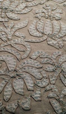Alabama Chanin  embroidery  try with cardboard?