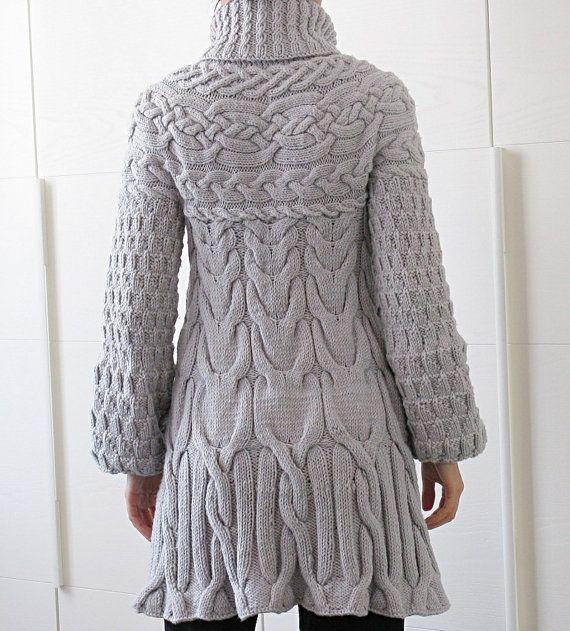 Tejer patrón: Patrón de abrigo suéter por MinimiKnitDesign en Etsy