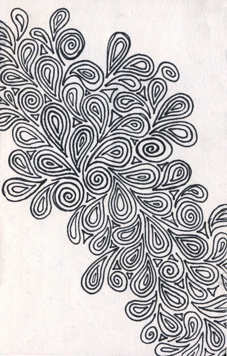 More designy paisley whatnots. Done in pen in a 3 x 6 sketchbook.