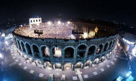 Coliseum in the historic center of Verona, Italy. (Photograph: Gianfranco Fainello/AP)