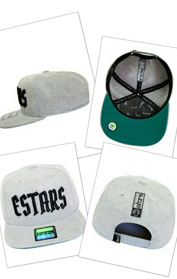 5e396388c9 Boné E-STARS Snapback Aba Reta Cinza Claro | Bonés Masculinos ...