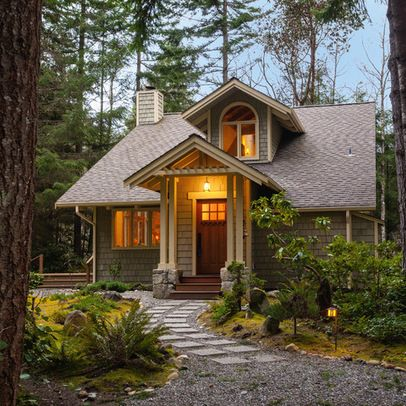 Exterior Small homes Design Ideas, Pictures, Remodel and Decor. This house is adorably cute!! <3 Would be so cute to decorate during Christmas time... ah! Love it!
